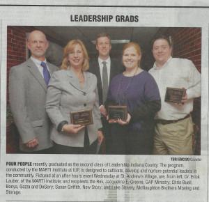 Graduating class of the Fall 2015 Leadership Indiana County program